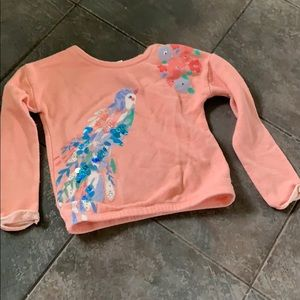 Girls Peachy Pink with sequence sweatshirt
